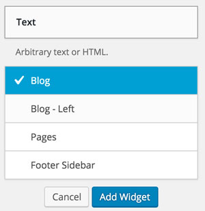 Add Text Widget in WordPress