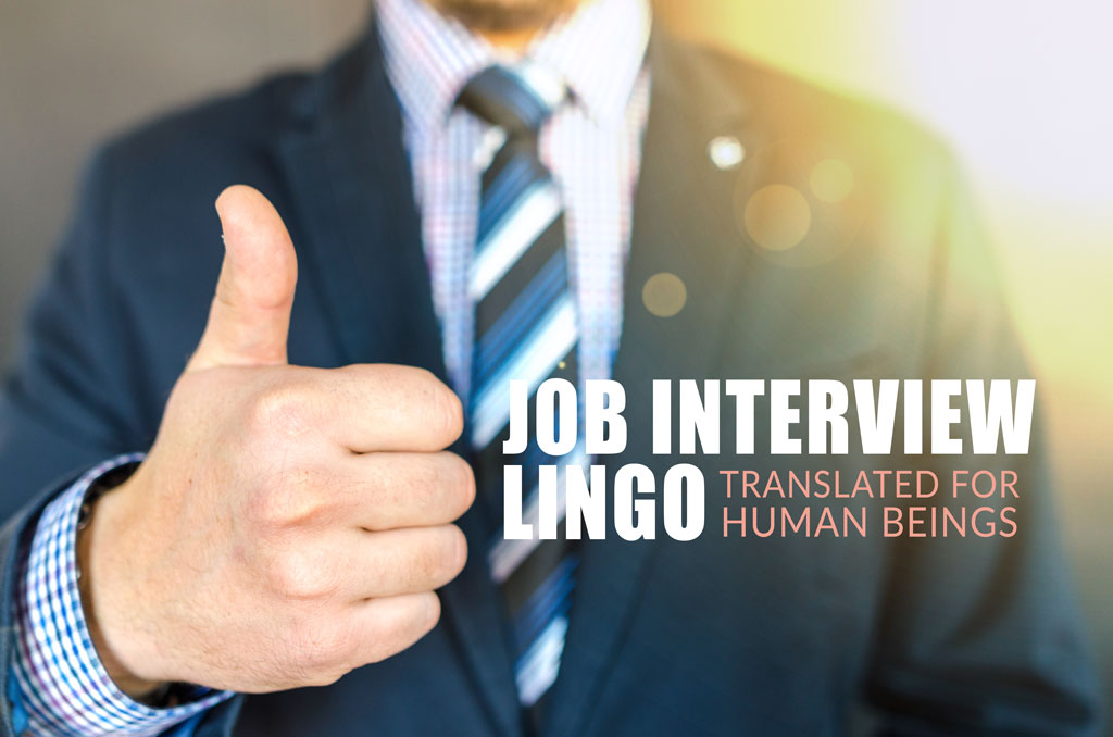 job lingo interview words funny
