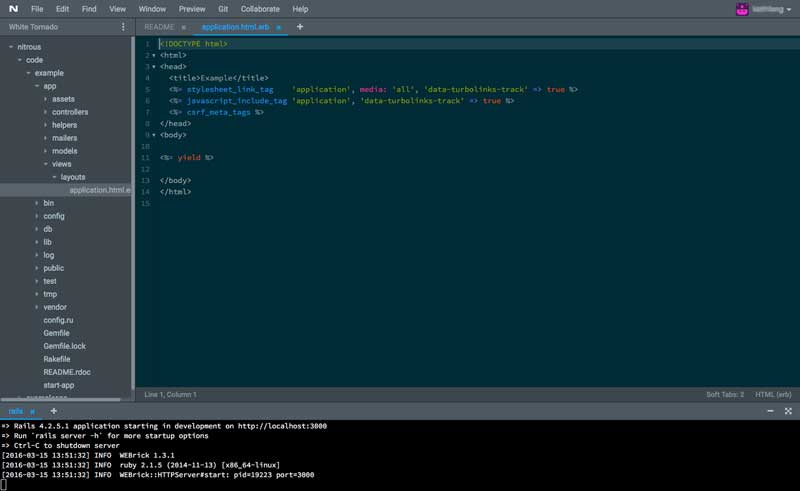 Nitrous Cloud IDEs for Ruby
