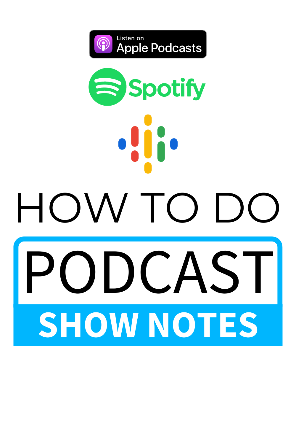 how to create podcast show notes