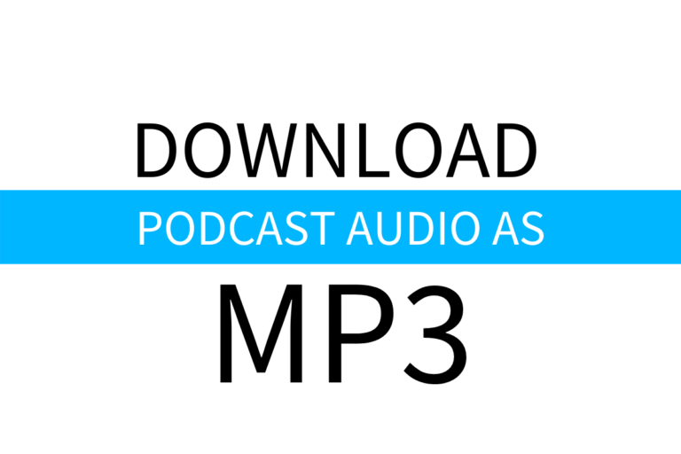 download podcast as mp3